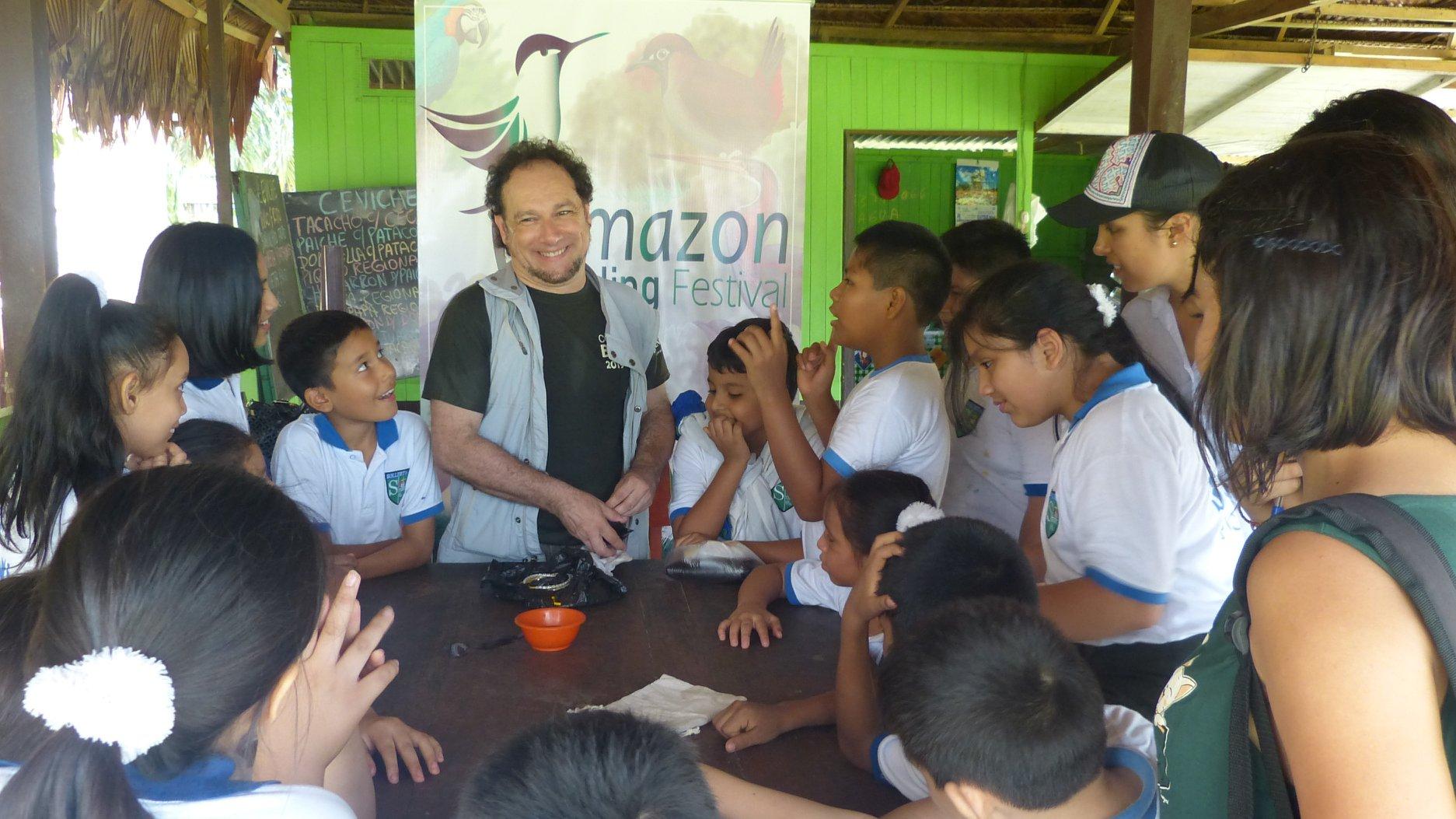 Guillem Chacon en el Amazon Birding Fest